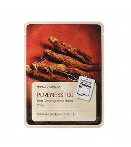 Тканевая маска Pureness 100 Red Ginseng Mask Sheet (Женьшень)